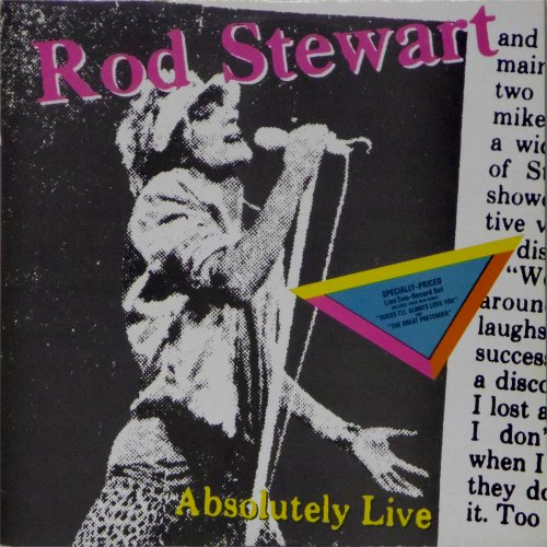 Rod Stewart<br>Absolutely Live<br>Double LP