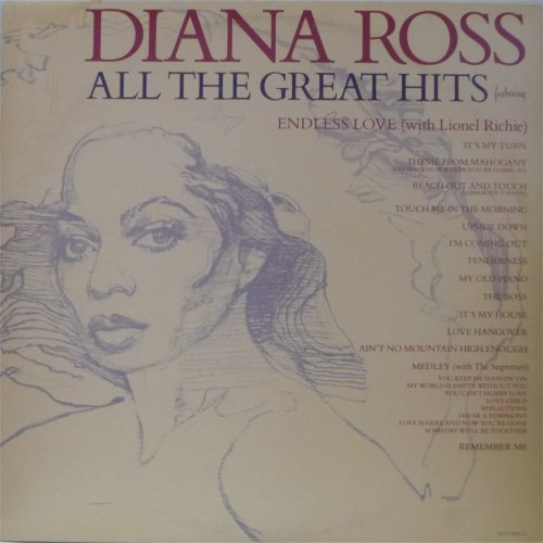 Diana Ross<br>All The Great Hits<br>Double LP