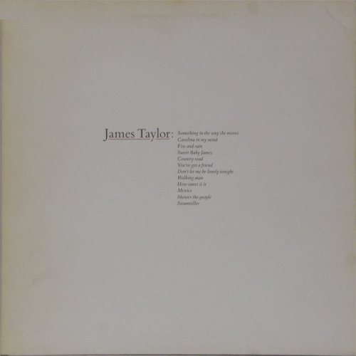 James Taylor<br>Greatest Hits<br>LP