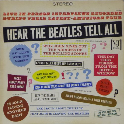 The Beatles<br>Hear The Beatles Tell All<br>LP