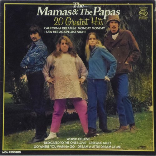 The Mamas And Papas<br>20 Greatest Hits<br>LP