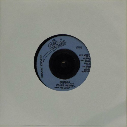 "Shakin' Stevens<br>Shirley<br>7"" single"