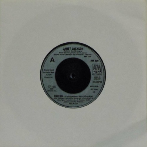 "Janet Jackson<br>Control<br>7"" single"