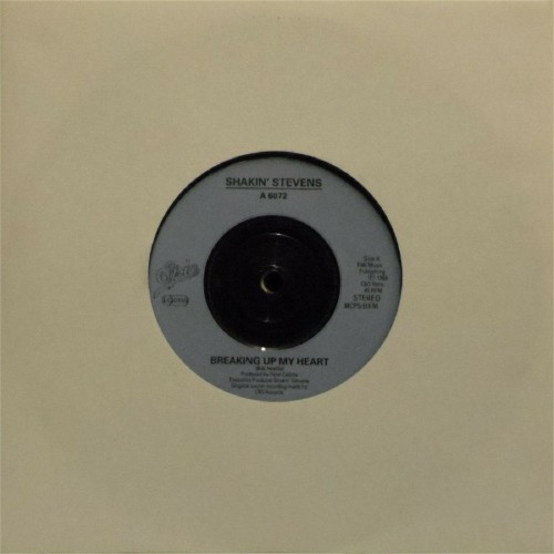 "Shakin' Stevens<br>Breaking Up My Heart<br>7"" single"