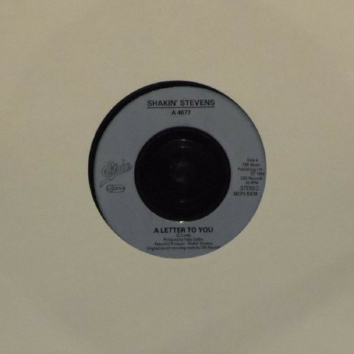"Shakin' Stevens<br>A Letter To You<br>7"" single"