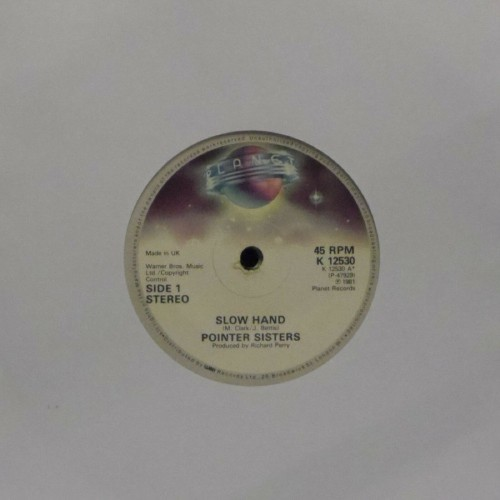 "Pointer Sisters<br>Slow Hand<br>7"" single"