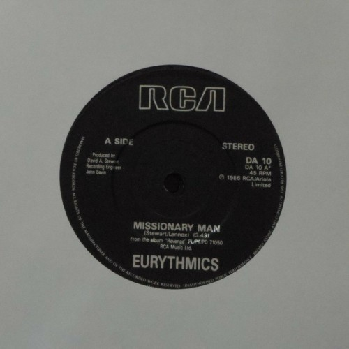 "Eurythmics<br>Missionary Man<br>7"" single"