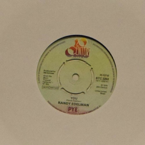 "Randy Edelman<br>You<br>7"" single"