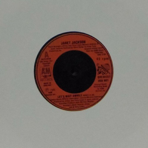 "Janet Jackson<br>Let's Wait Awhile<br>7"" single"