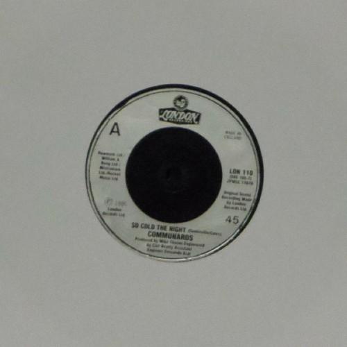 "Communards<br>So Cold The Night<br>7"" single"