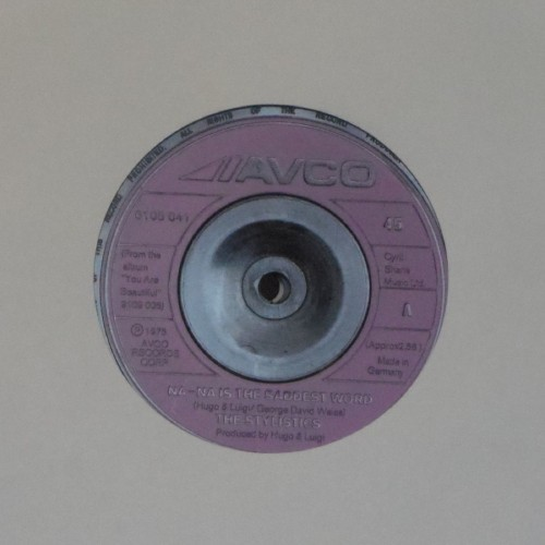 "The Stylistics<br>Na-Na Is The Saddest Word<br>7"" single"