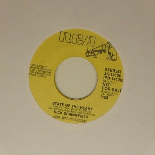 "Rick Springfield<br>State Of The Heart<br>7"" single"