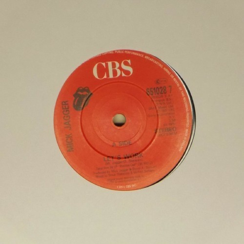 "Mick Jagger<br>Let's Work<br>7"" single"