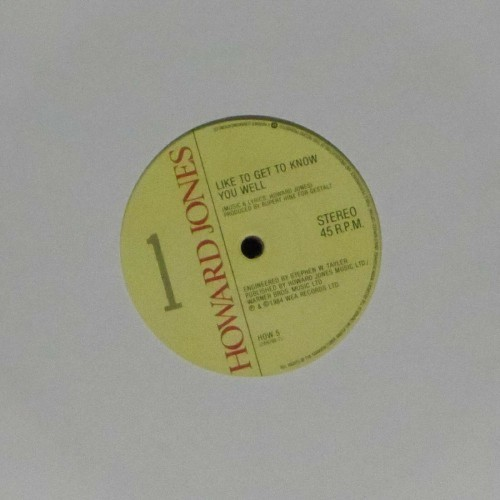"Howard Jones<br>Like To Get To Know You Well<br>7"" single"