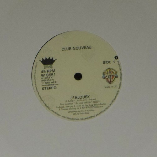 "Club Nouveau<br>Jealousy<br>7"" single"