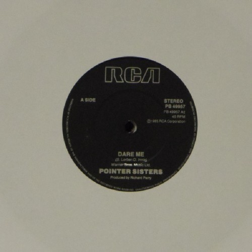 "Pointer Sisters<br>Dare Me<br>7"" single"