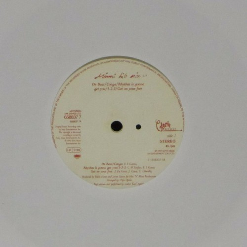"Gloria Estefan<br>Miami Hit Mix<br>7"" single"
