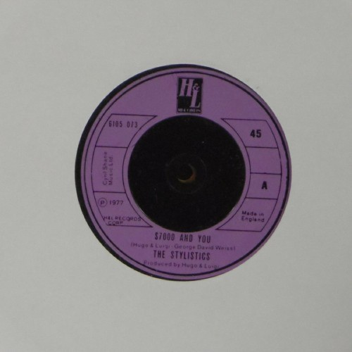 "The Stylistics<br>$7000 And You<br>7"" single"