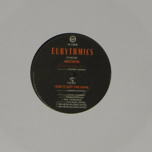 "Eurythmics<br>Sexcrime<br>7"" single"