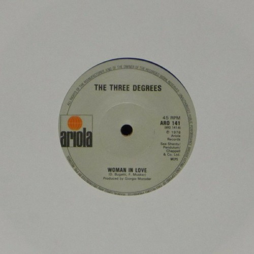 "The Three Degrees<br>Woman In Love (Blue Vinyl)<br>7"" single"