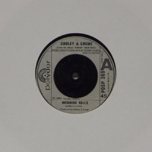 "Godley & Creme<br>Wedding Bells<br>7"" single"