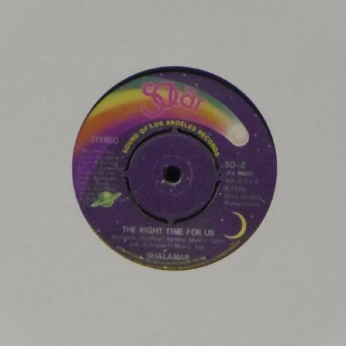 "Shalamar<br>The Right Time For Us<br>7"" single"