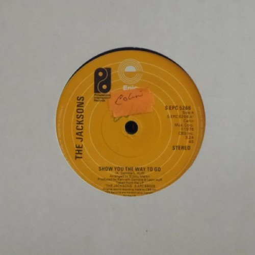 "The Jacksons<br>Show You The Way To Go<br>7"" single"