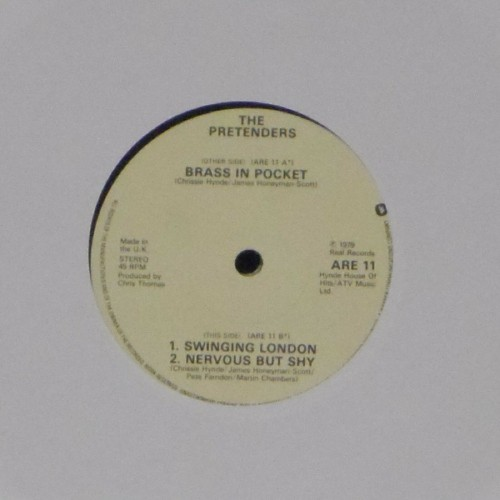 "The Pretenders<br>Brass In Pocket<br>7"" single"