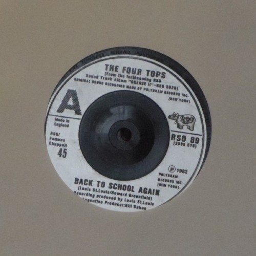 "The Four Tops<br>Back To School Again<br>7"" single"