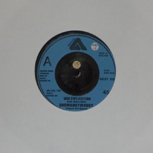 "Showaddywaddy<br>Multiplication<br>7"" single"