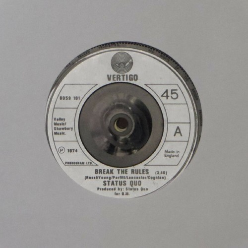 "Status Quo<br>Break The Rules<br>7"" single"