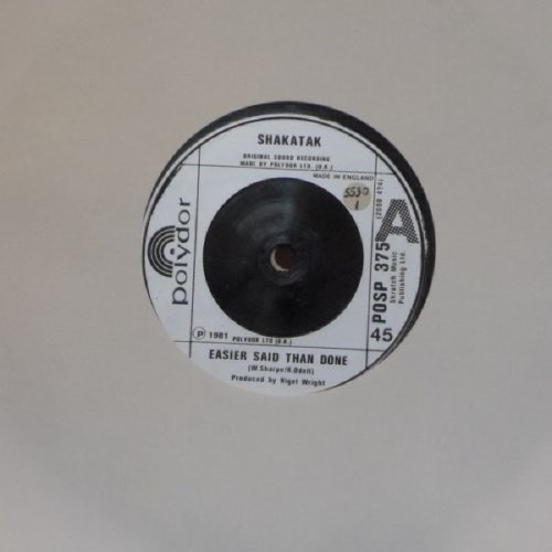 "Shakatak<br>Easier Said Than Done<br>7"" single"