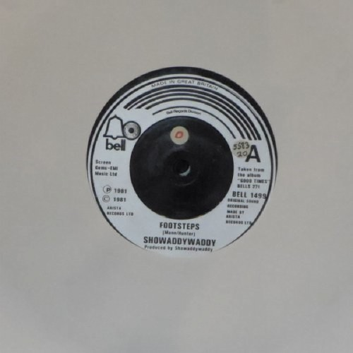 "Showaddywaddy<br>Footsteps<br>7"" single"