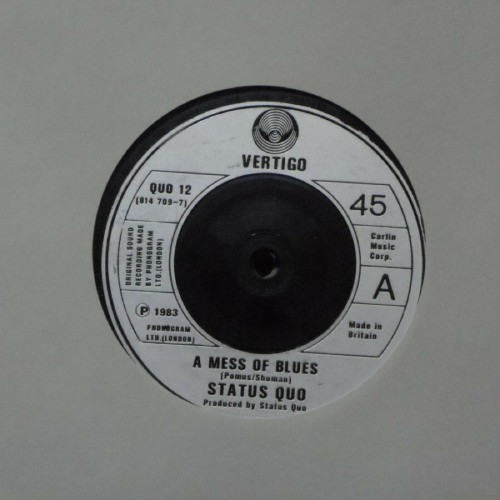 "Status Quo<br>A Mess Of Blues<br>7"" single"