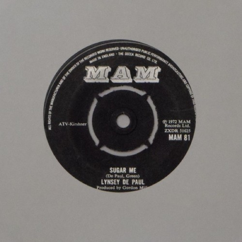 "Lynsey De Paul<br>Sugar Me<br>7"" single"