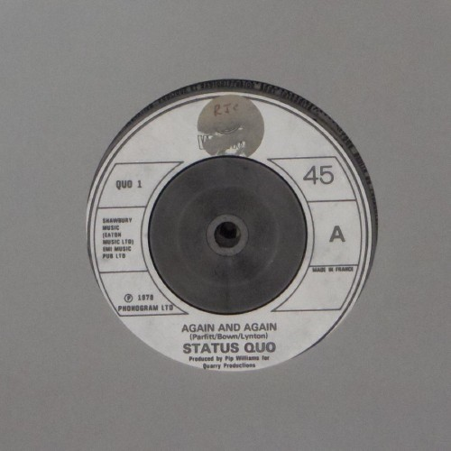 "Status Quo<br>Again And Again<br>7"" single"