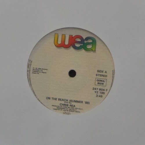 "Chris Rea<br>On The Beach (Summer 88)<br>7"" single"