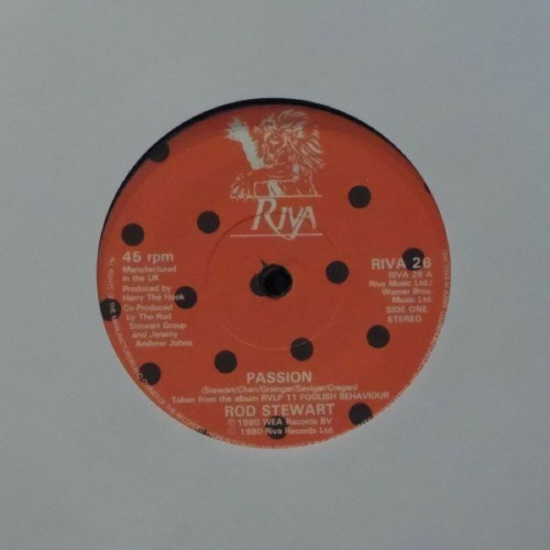 "Rod Stewart<br>Passion<br>7"" single"