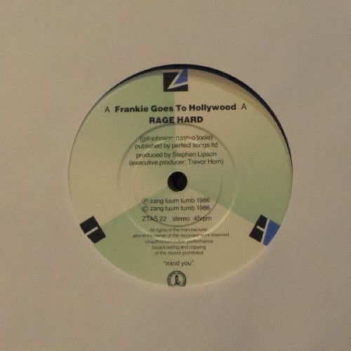 "Frankie Goes To Hollywood<br>Rage Hard<br>7"" single"