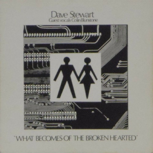 "Dave Stewart<br>What Becomes Of The Broken Hearted<br>7"" single"