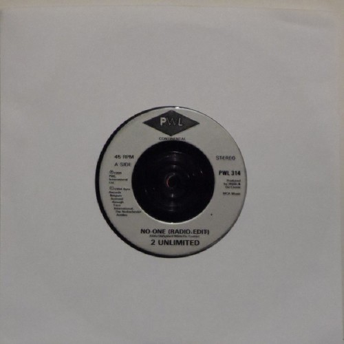 "2 Unlimited<br>No-One (Radio Edit)<br>7"" single"