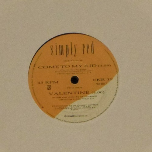 "Simply Red<br>Come To My Aid<br>7"" single"