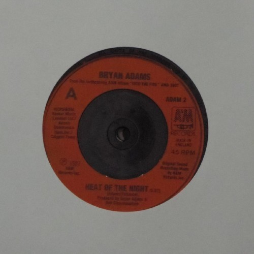 "Bryan Adams<br>Heat Of The Night<br>7"" single"