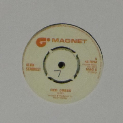 "Alvin Stardust<br>Red Dress<br>7"" single"