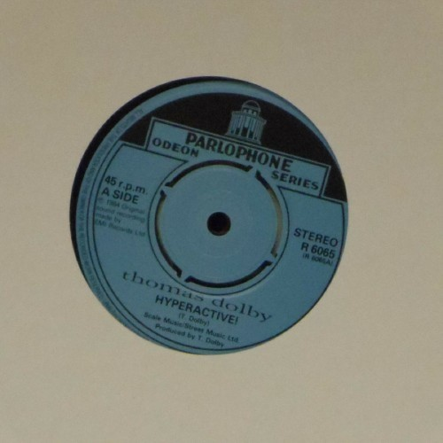 "Thomas Dolby<br>Hyperactive<br>7"" single"