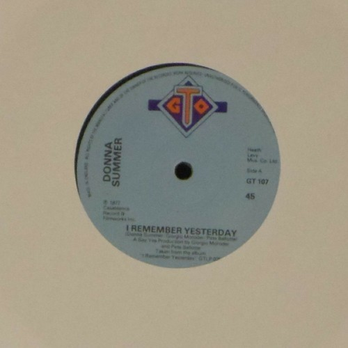 "Donna Summer<br>I Remember Yesterday<br>7"" single"