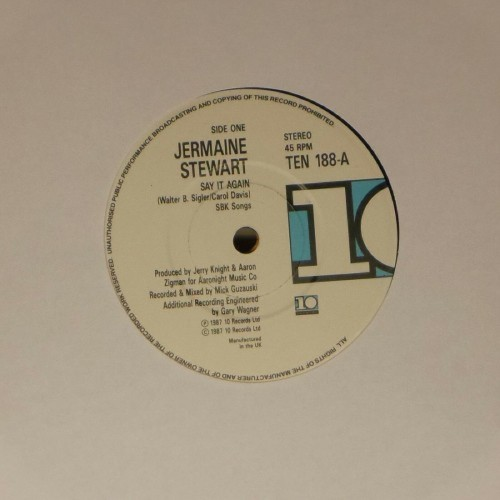 "Jermaine Stewart<br>Say It Again<br>7"" single"
