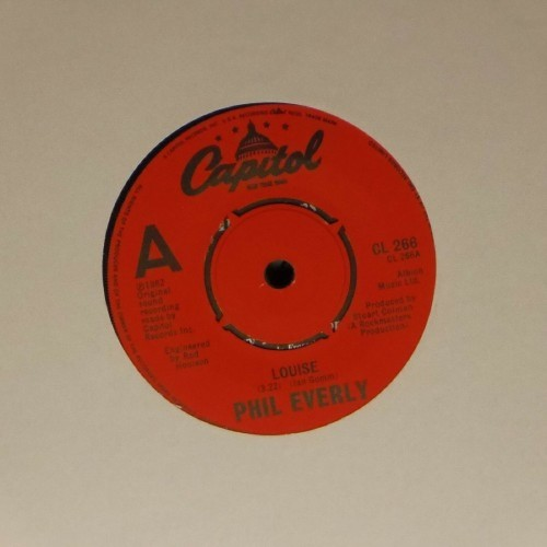 "Phil Everly<br>Louise<br>7"" single"
