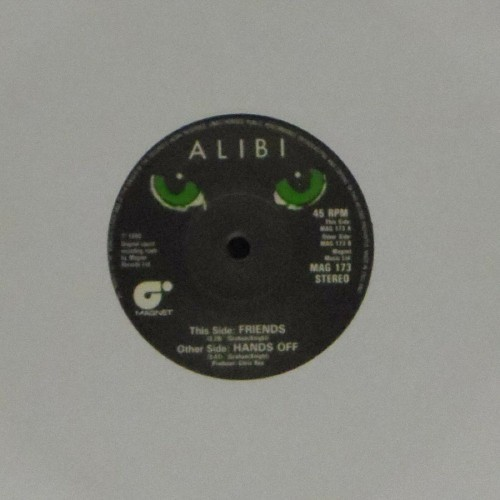 "Alibi<br>Friends<br>7"" single"