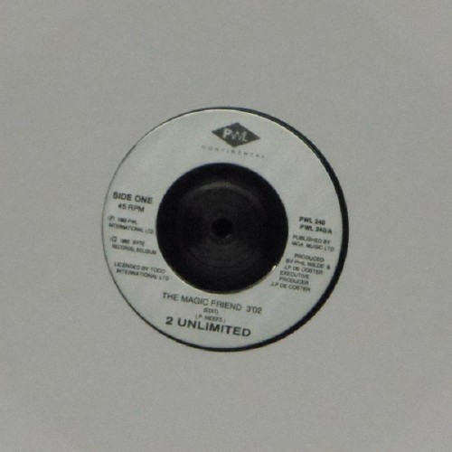 "2 Unlimited<br>The Magic Friend<br>7"" single"